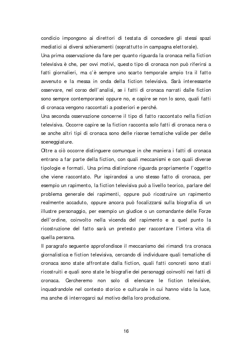 Anteprima della tesi: Dai fatti di cronaca al piccolo schermo: i temi della fiction televisiva, Pagina 11