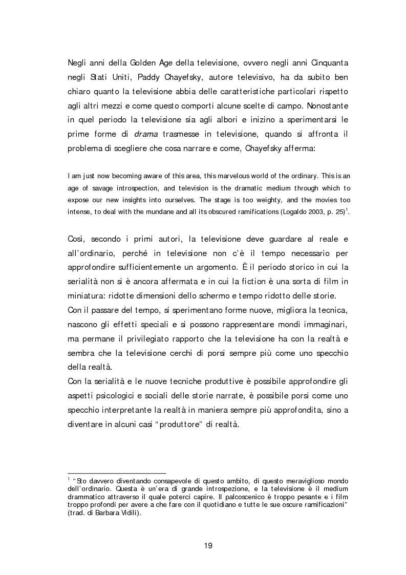 Anteprima della tesi: Dai fatti di cronaca al piccolo schermo: i temi della fiction televisiva, Pagina 14