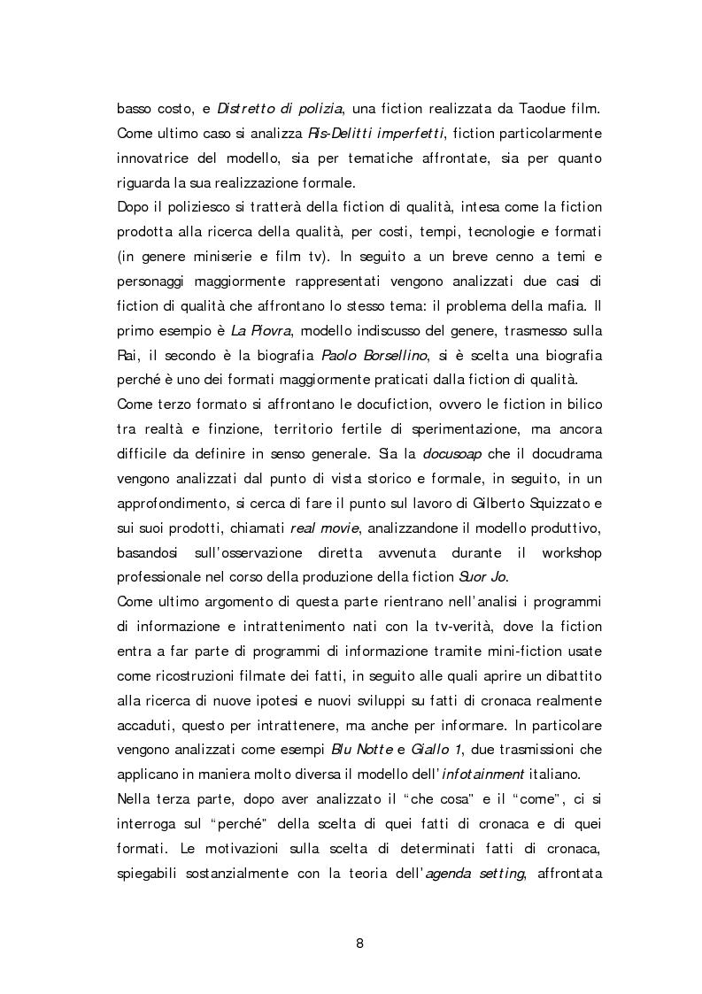 Anteprima della tesi: Dai fatti di cronaca al piccolo schermo: i temi della fiction televisiva, Pagina 3