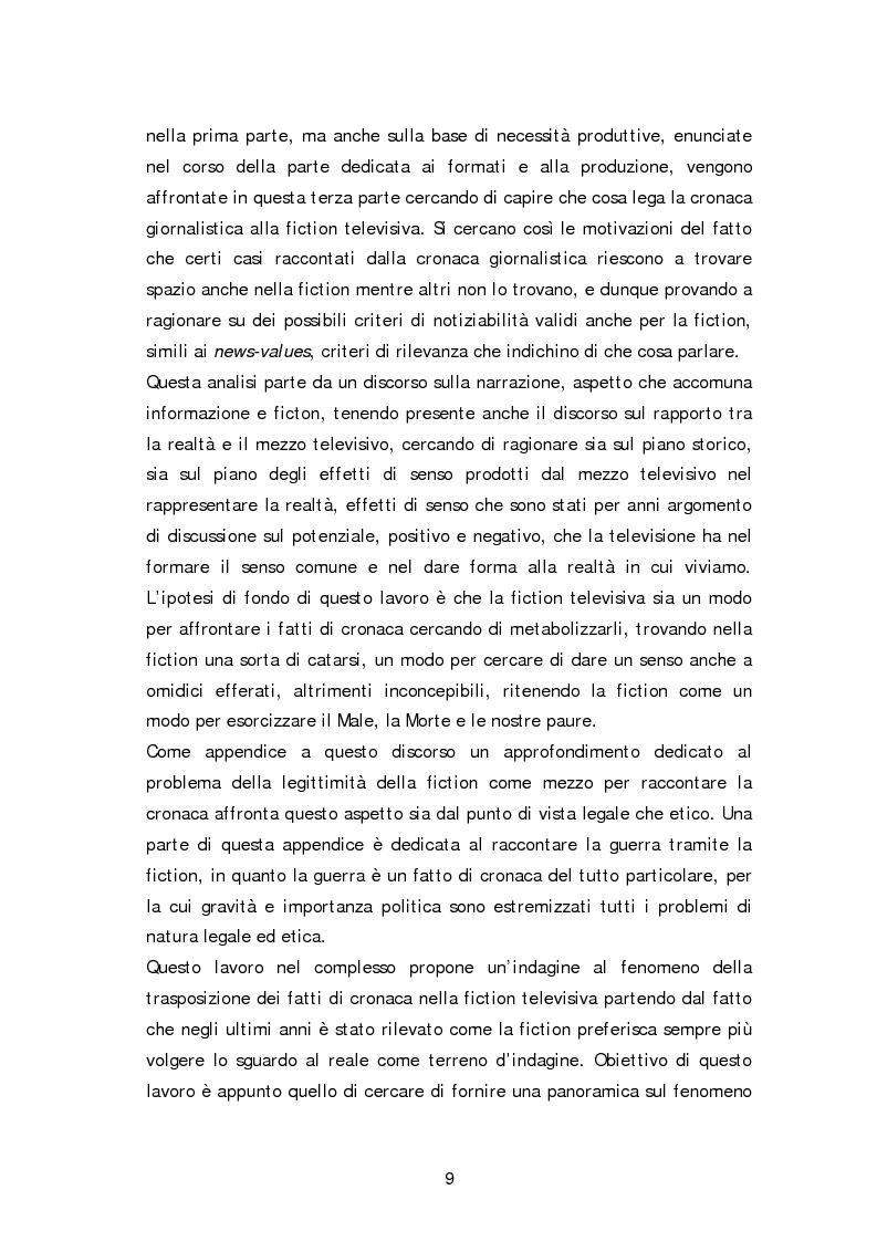 Anteprima della tesi: Dai fatti di cronaca al piccolo schermo: i temi della fiction televisiva, Pagina 4
