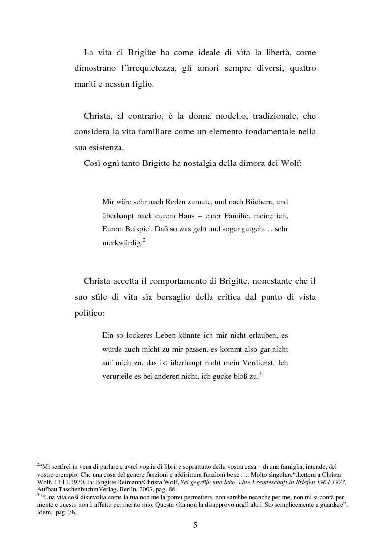 Anteprima della tesi: Brigitte Reimann e Christa Wolf: un epistolario, un'amicizia, Pagina 5
