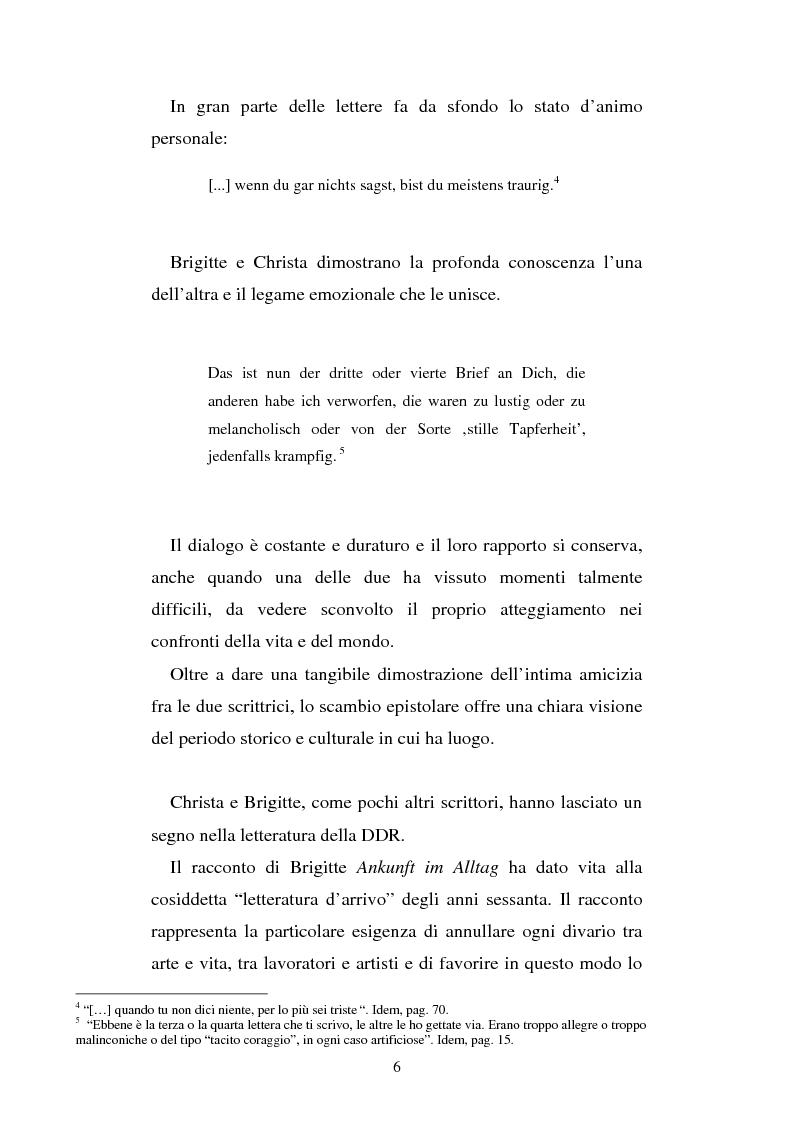 Anteprima della tesi: Brigitte Reimann e Christa Wolf: un epistolario, un'amicizia, Pagina 6