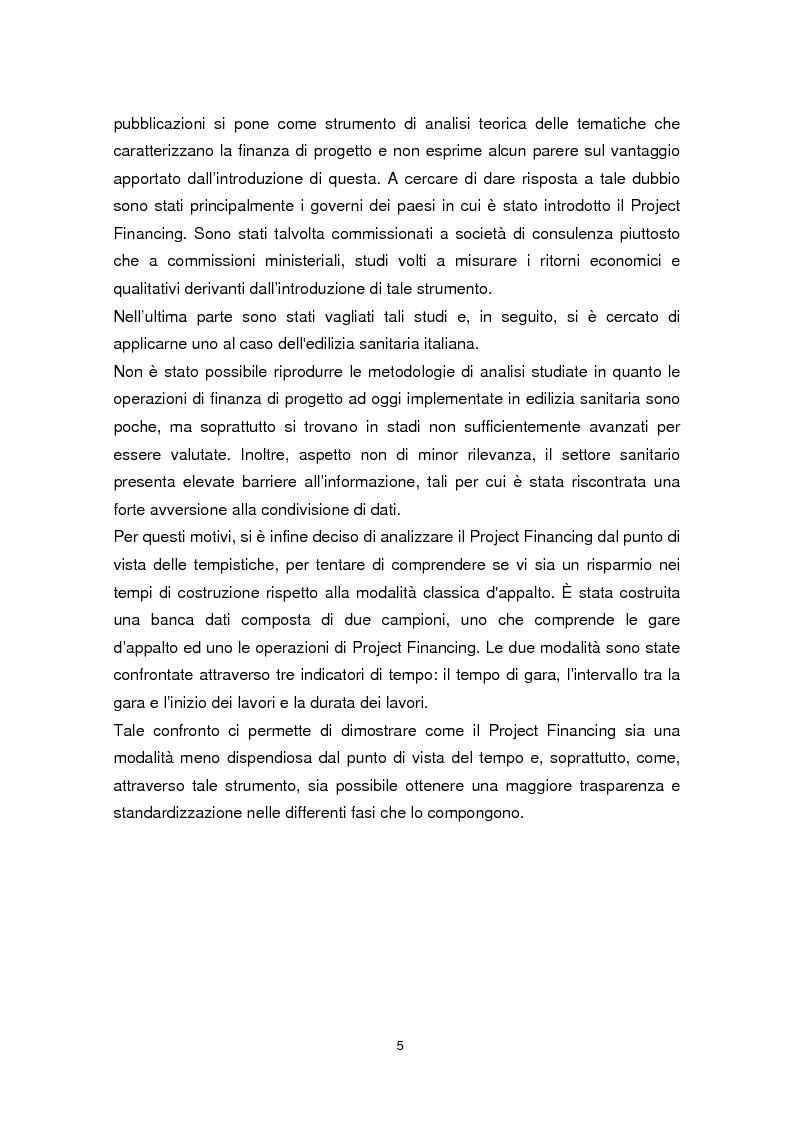 Anteprima della tesi: Forme di collaborazione pubblico-privato: un'analisi empirica sull'utilizzo del Project Finance nel settore sanitario italiano, Pagina 2