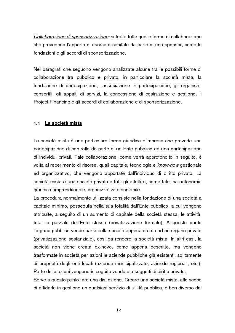 Anteprima della tesi: Forme di collaborazione pubblico-privato: un'analisi empirica sull'utilizzo del Project Finance nel settore sanitario italiano, Pagina 9