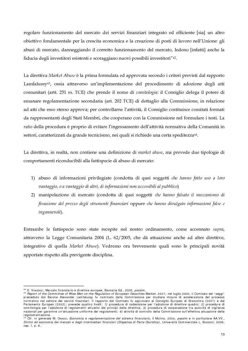 Anteprima della tesi: Il nuovo profilo dell'abuso di mercato: la punibilità dell'outsider trading, Pagina 13