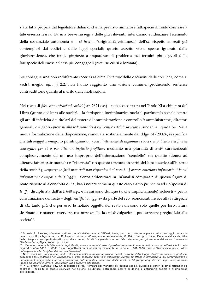 Anteprima della tesi: Il nuovo profilo dell'abuso di mercato: la punibilità dell'outsider trading, Pagina 6