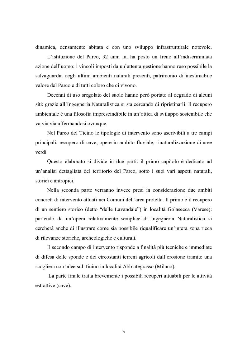 Anteprima della tesi: Gli interventi di Ingegneria Naturalistica nel Parco del Ticino, Pagina 2