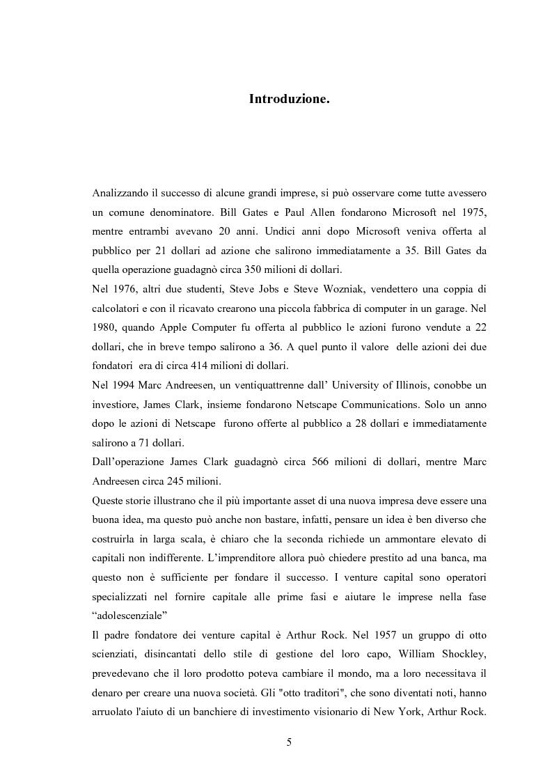 Anteprima della tesi: Il ruolo degli investitori istituzionali nel processo di sviluppo delle Pmi. Il caso di una società operante nel settore fotovoltaico., Pagina 1