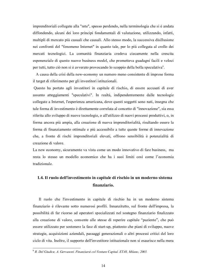 Anteprima della tesi: Il ruolo degli investitori istituzionali nel processo di sviluppo delle Pmi. Il caso di una società operante nel settore fotovoltaico., Pagina 10