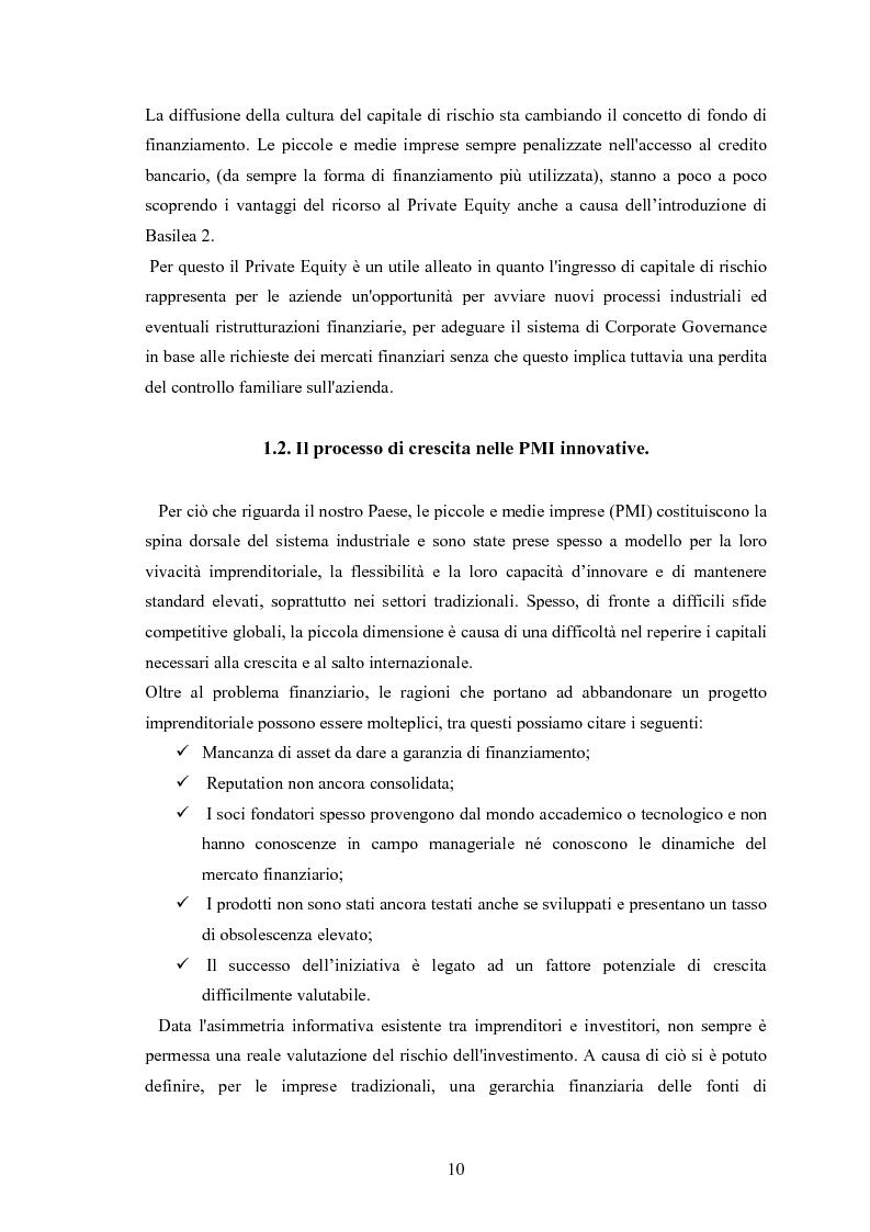 Anteprima della tesi: Il ruolo degli investitori istituzionali nel processo di sviluppo delle Pmi. Il caso di una società operante nel settore fotovoltaico., Pagina 6