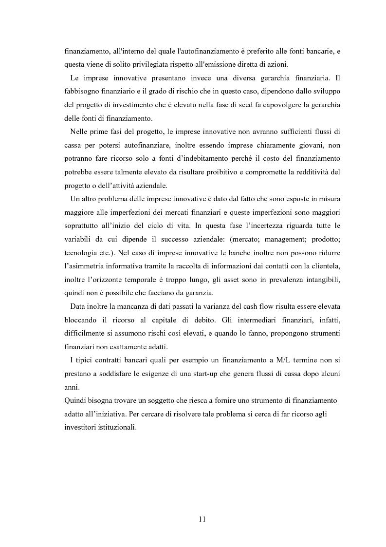 Anteprima della tesi: Il ruolo degli investitori istituzionali nel processo di sviluppo delle Pmi. Il caso di una società operante nel settore fotovoltaico., Pagina 7