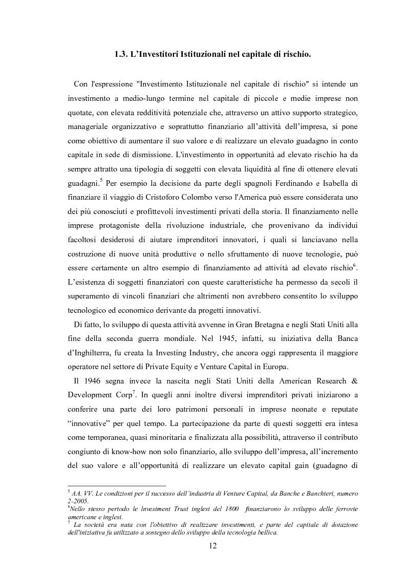Anteprima della tesi: Il ruolo degli investitori istituzionali nel processo di sviluppo delle Pmi. Il caso di una società operante nel settore fotovoltaico., Pagina 8