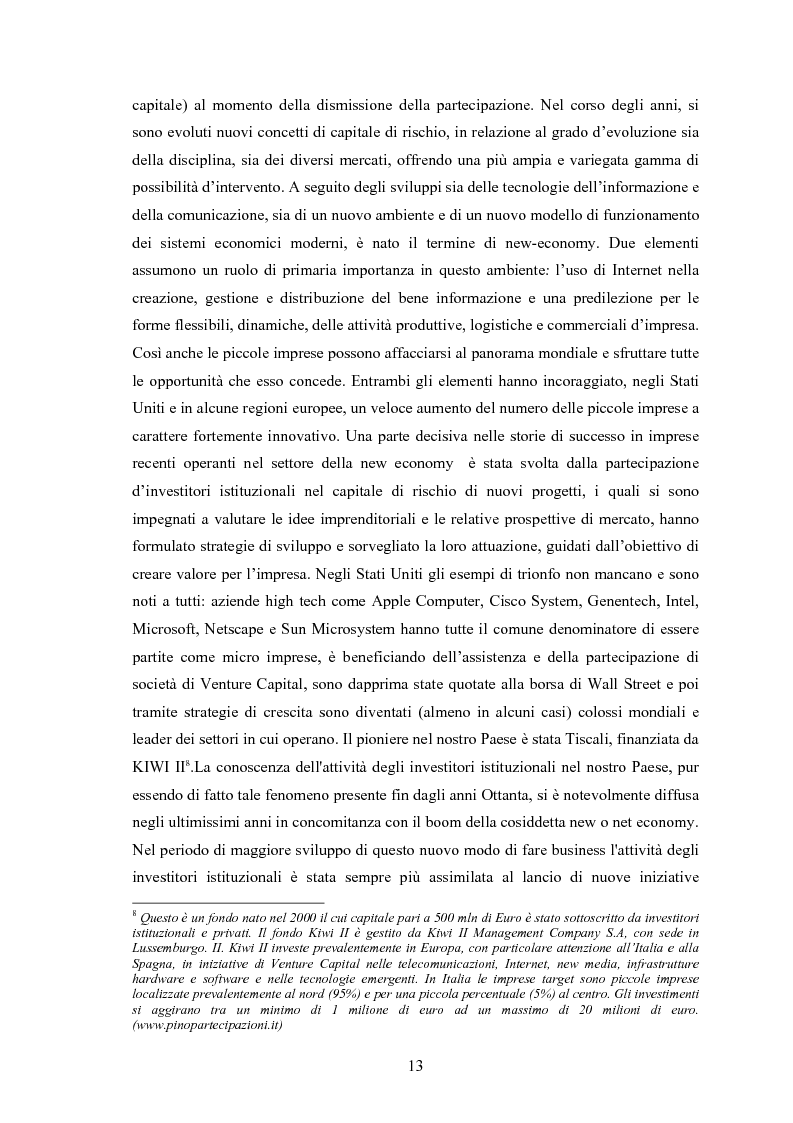 Anteprima della tesi: Il ruolo degli investitori istituzionali nel processo di sviluppo delle Pmi. Il caso di una società operante nel settore fotovoltaico., Pagina 9
