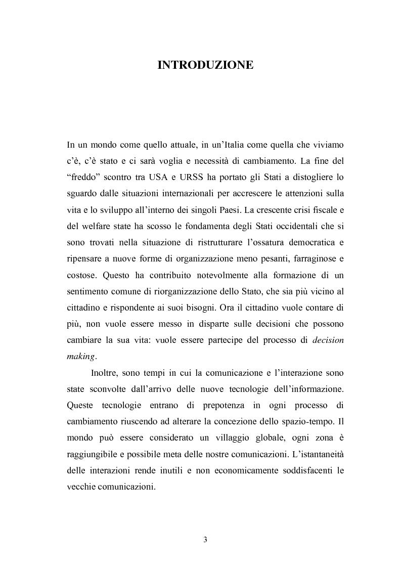 Anteprima della tesi: Il Comune italiano nell'Era dell'Informazione-I progetti di e-Government del Comune di Viterbo, Pagina 1