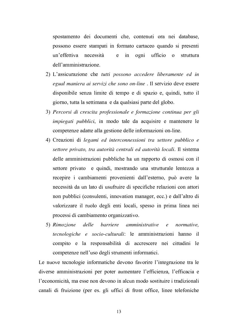 Anteprima della tesi: Il Comune italiano nell'Era dell'Informazione-I progetti di e-Government del Comune di Viterbo, Pagina 11