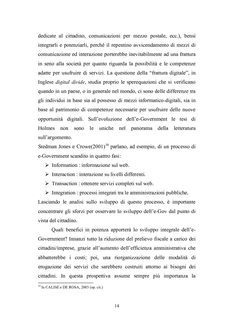 Anteprima della tesi: Il Comune italiano nell'Era dell'Informazione-I progetti di e-Government del Comune di Viterbo, Pagina 12