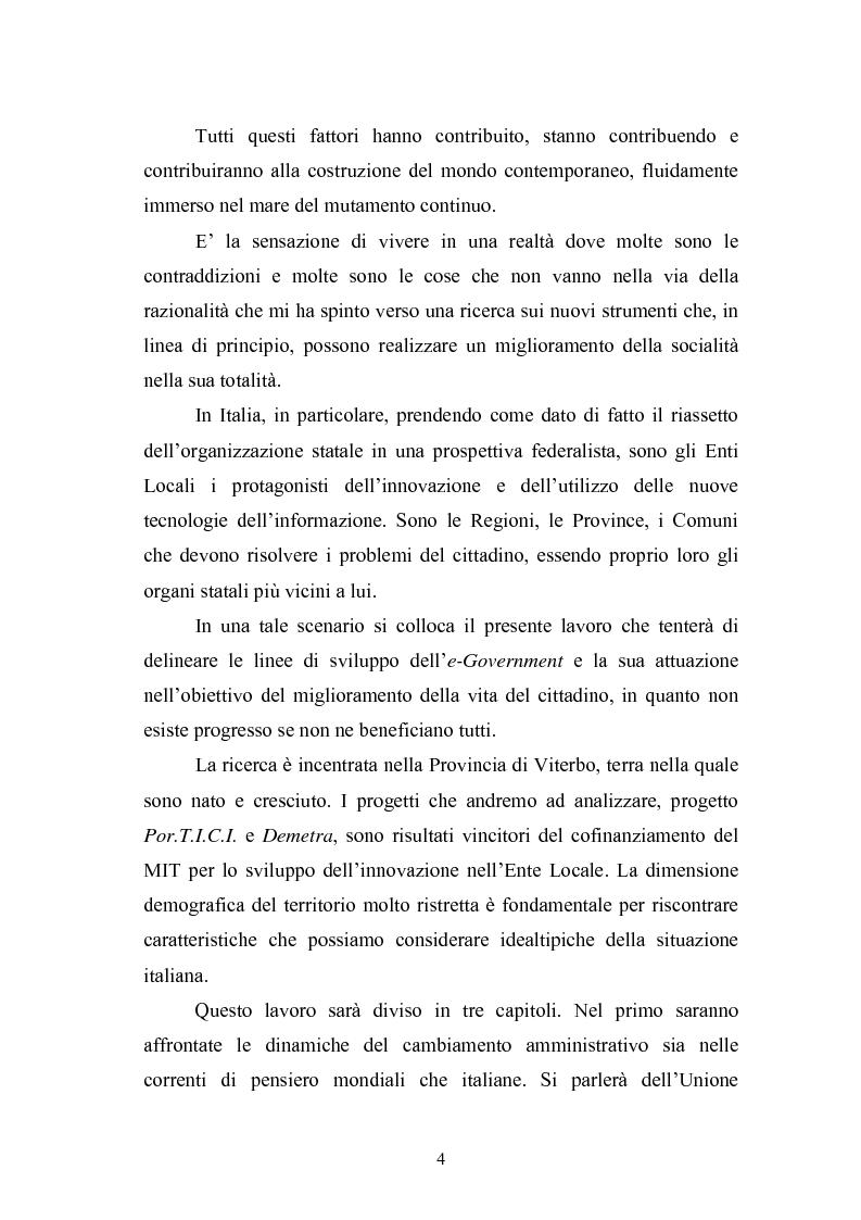 Anteprima della tesi: Il Comune italiano nell'Era dell'Informazione-I progetti di e-Government del Comune di Viterbo, Pagina 2