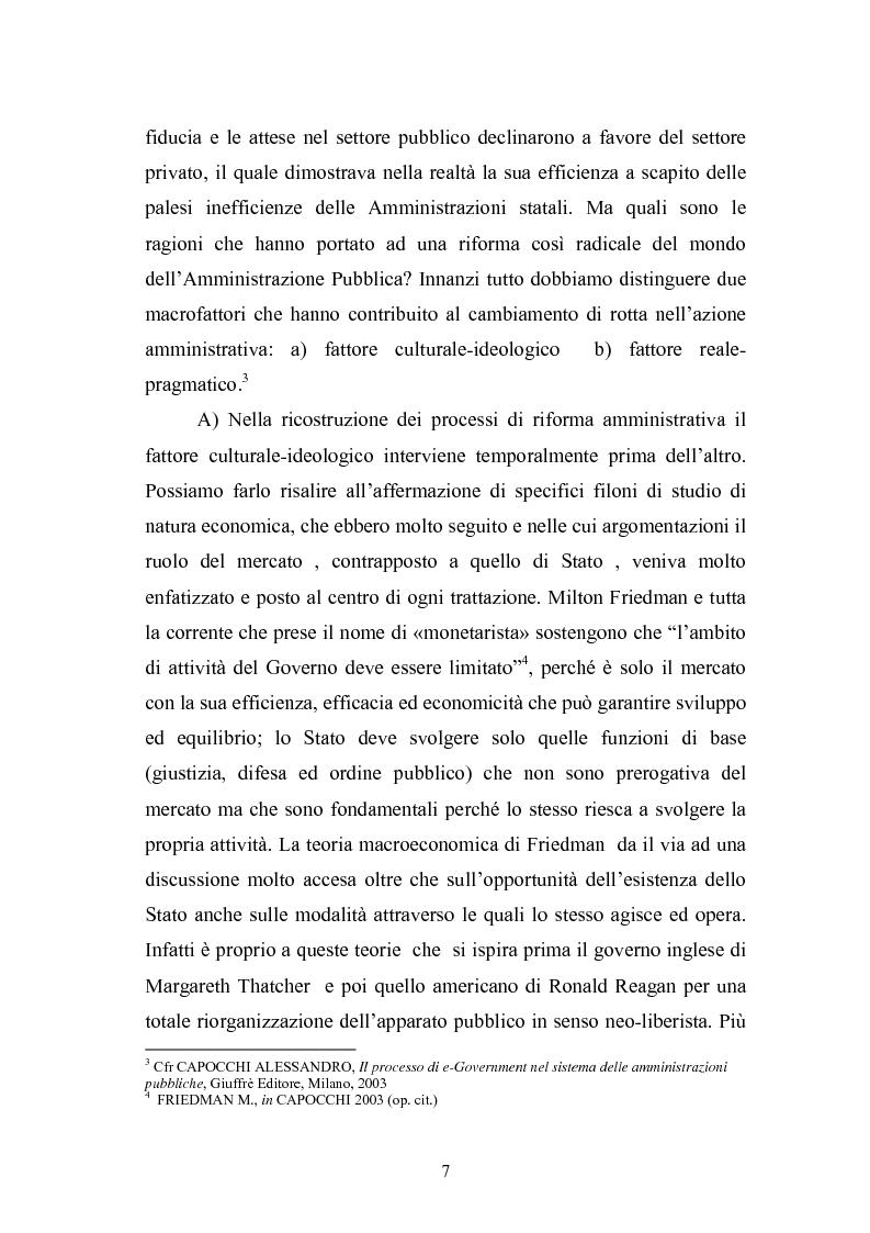 Anteprima della tesi: Il Comune italiano nell'Era dell'Informazione-I progetti di e-Government del Comune di Viterbo, Pagina 5