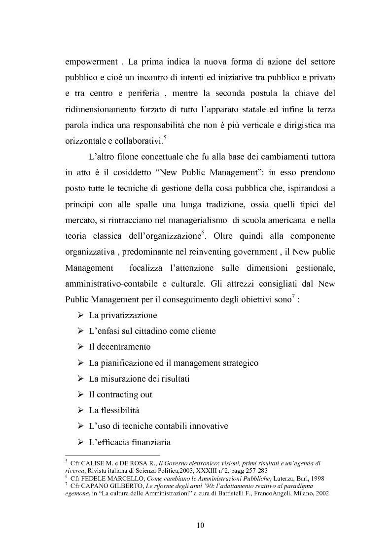 Anteprima della tesi: Il Comune italiano nell'Era dell'Informazione-I progetti di e-Government del Comune di Viterbo, Pagina 8