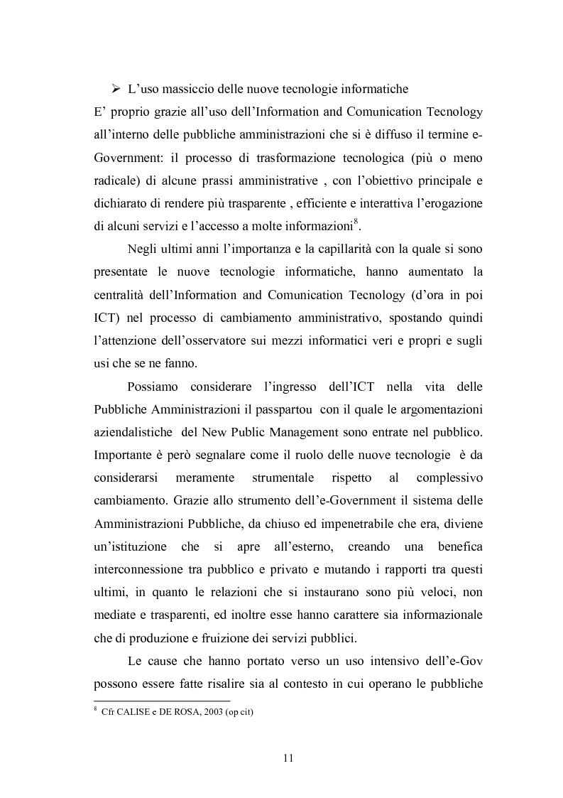 Anteprima della tesi: Il Comune italiano nell'Era dell'Informazione-I progetti di e-Government del Comune di Viterbo, Pagina 9