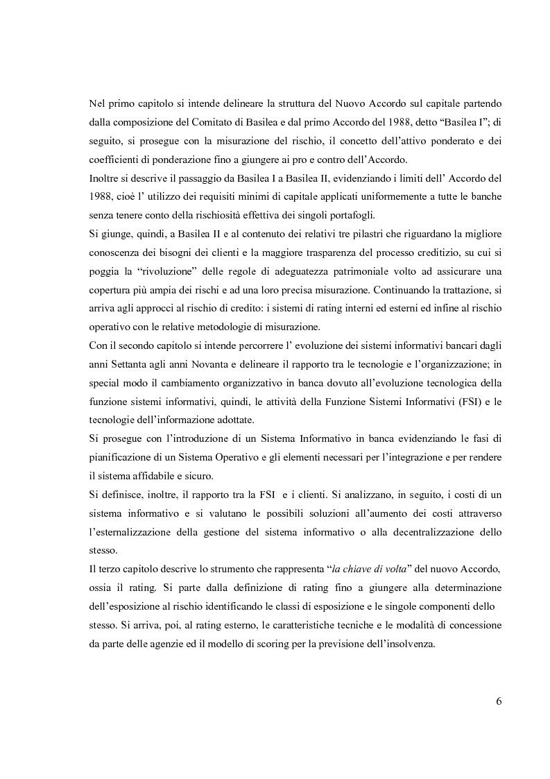 Anteprima della tesi: L'Accordo di Basilea II e l'organizzazione dei Sistemi Informativi bancari: il caso UniCredit Group, Pagina 2