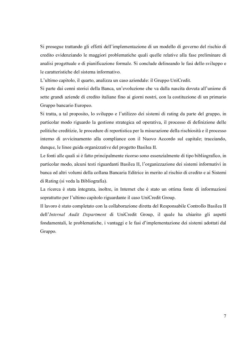 Anteprima della tesi: L'Accordo di Basilea II e l'organizzazione dei Sistemi Informativi bancari: il caso UniCredit Group, Pagina 3