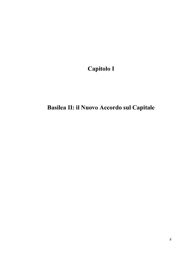 Anteprima della tesi: L'Accordo di Basilea II e l'organizzazione dei Sistemi Informativi bancari: il caso UniCredit Group, Pagina 4