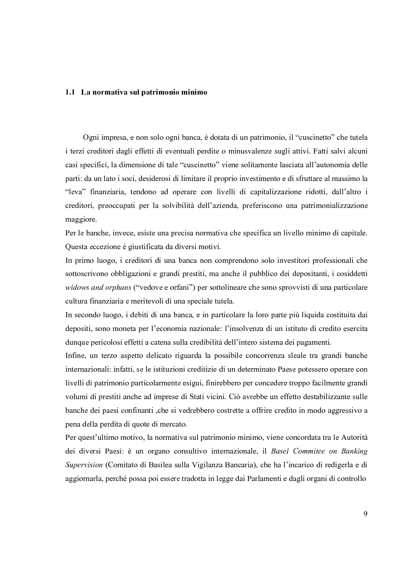 Anteprima della tesi: L'Accordo di Basilea II e l'organizzazione dei Sistemi Informativi bancari: il caso UniCredit Group, Pagina 5