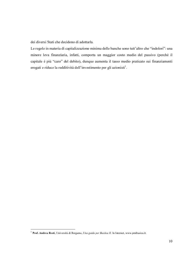 Anteprima della tesi: L'Accordo di Basilea II e l'organizzazione dei Sistemi Informativi bancari: il caso UniCredit Group, Pagina 6
