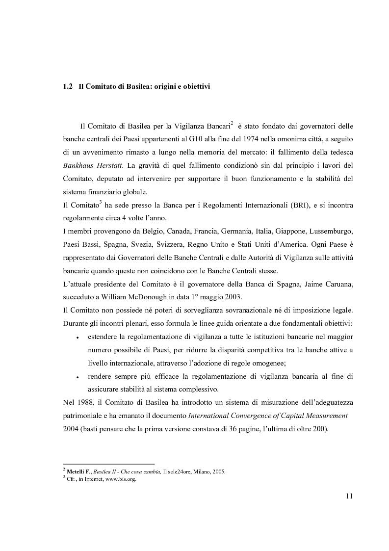 Anteprima della tesi: L'Accordo di Basilea II e l'organizzazione dei Sistemi Informativi bancari: il caso UniCredit Group, Pagina 7