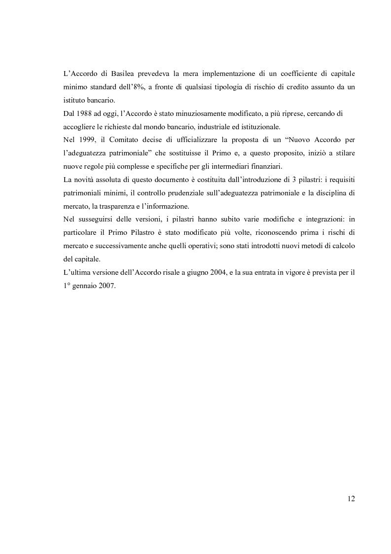 Anteprima della tesi: L'Accordo di Basilea II e l'organizzazione dei Sistemi Informativi bancari: il caso UniCredit Group, Pagina 8