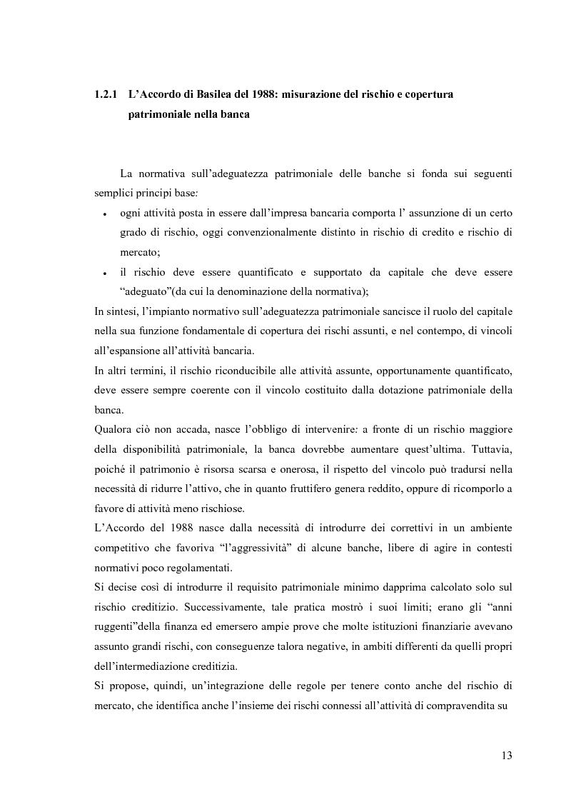Anteprima della tesi: L'Accordo di Basilea II e l'organizzazione dei Sistemi Informativi bancari: il caso UniCredit Group, Pagina 9
