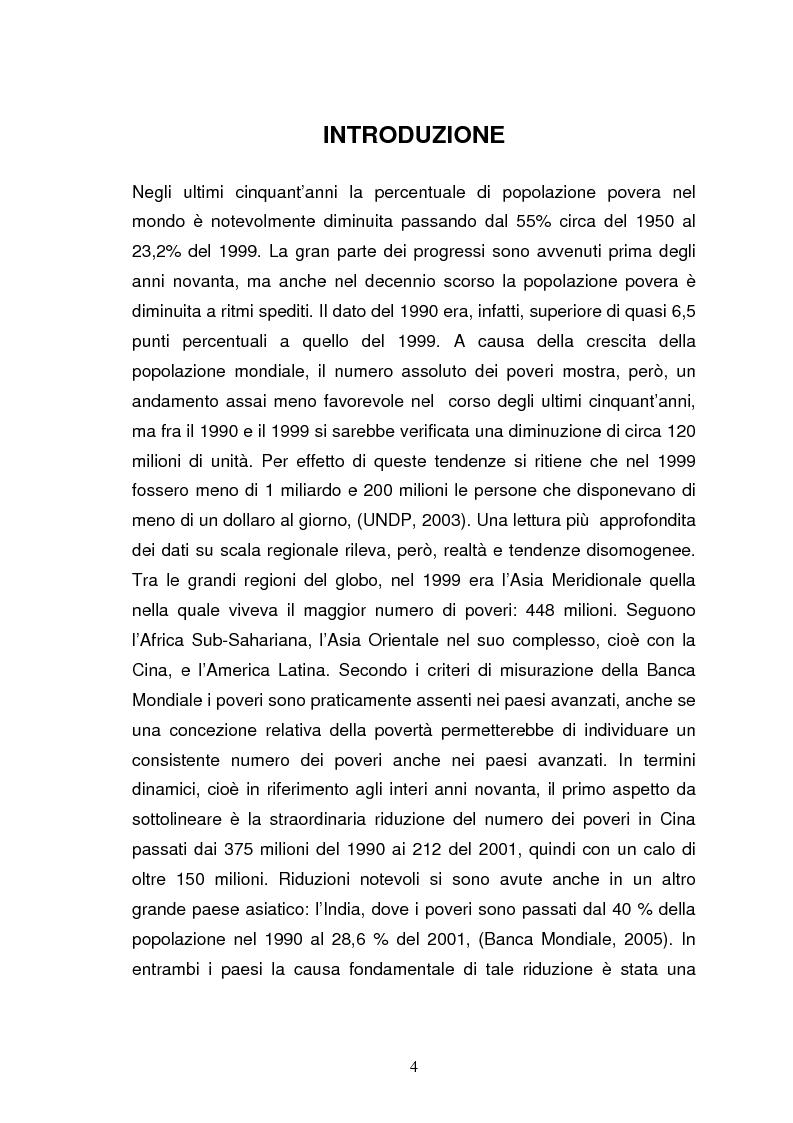Anteprima della tesi: La povertà, che cos'è e come si misura, Pagina 1
