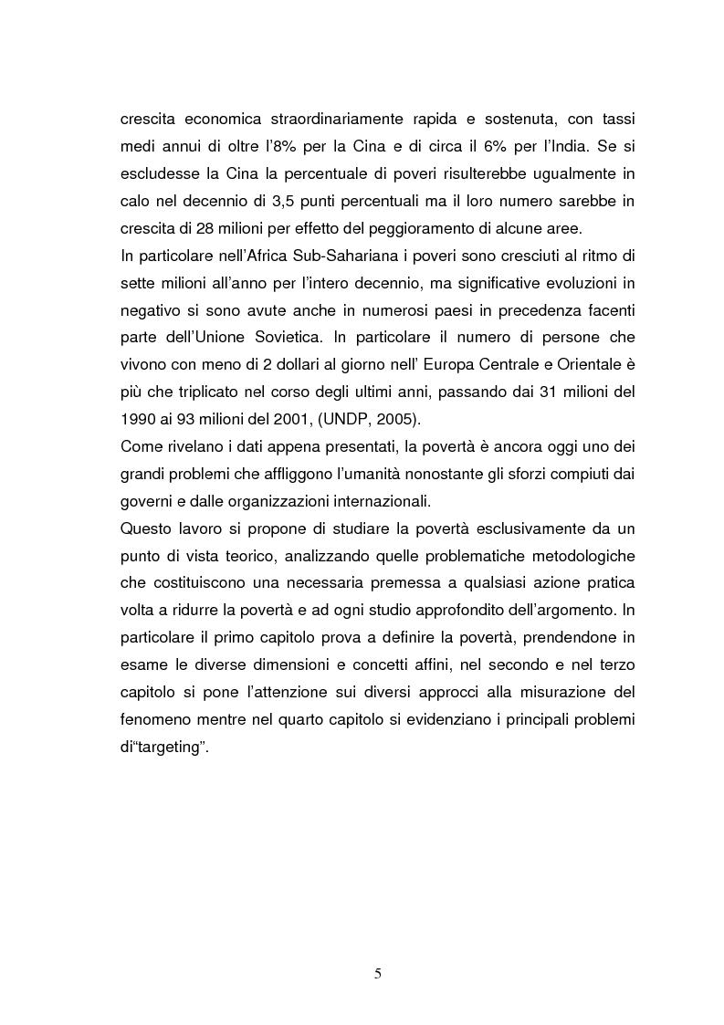 Anteprima della tesi: La povertà, che cos'è e come si misura, Pagina 2