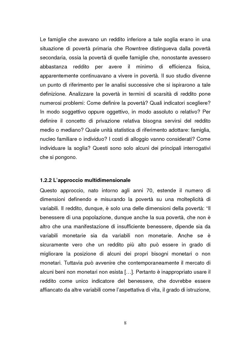 Anteprima della tesi: La povertà, che cos'è e come si misura, Pagina 5