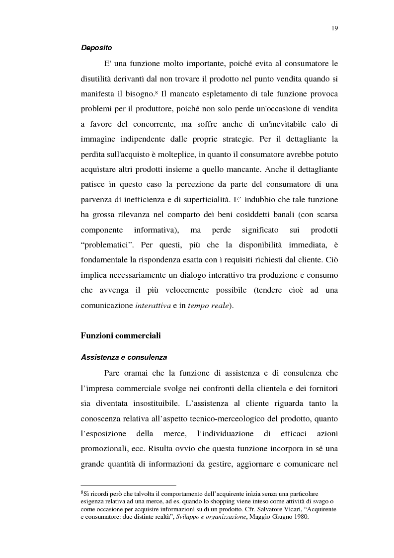 Anteprima della tesi: I servizi telematici nel marketing dei beni di consumo diretto, Pagina 7