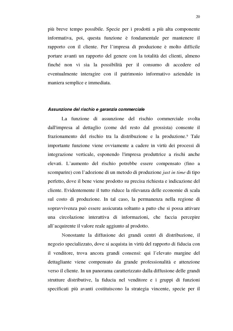 Anteprima della tesi: I servizi telematici nel marketing dei beni di consumo diretto, Pagina 8