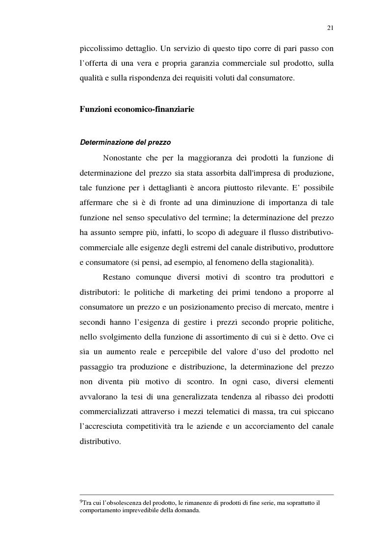 Anteprima della tesi: I servizi telematici nel marketing dei beni di consumo diretto, Pagina 9
