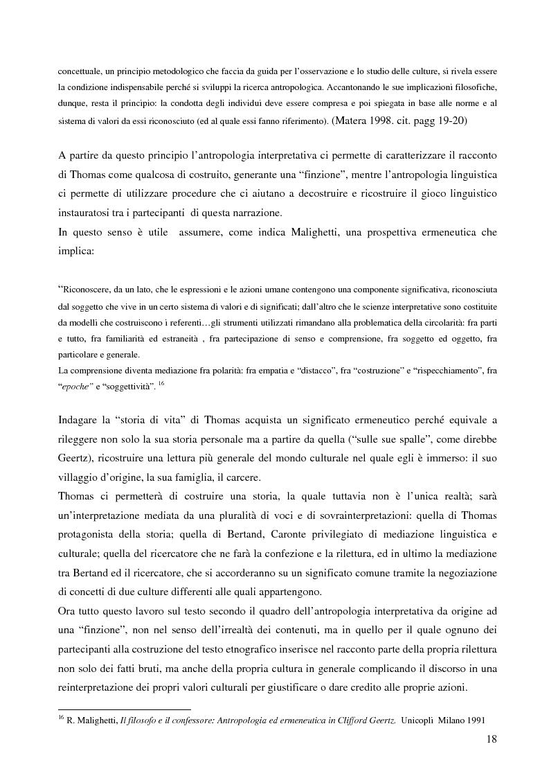 Anteprima della tesi: Analisi antropologica di un racconto di vita, Pagina 13