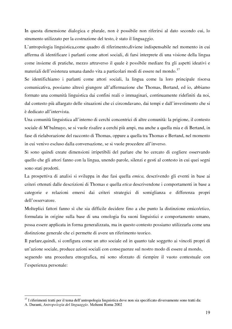 Anteprima della tesi: Analisi antropologica di un racconto di vita, Pagina 14