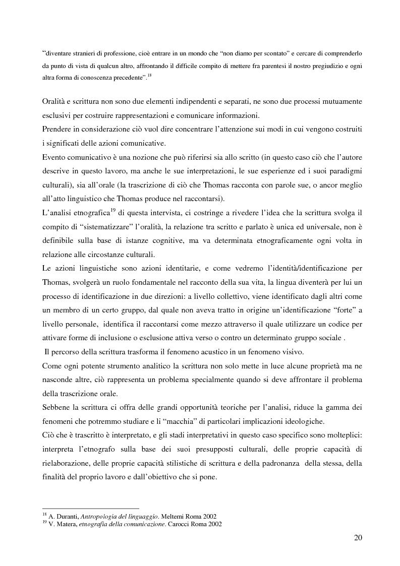 Anteprima della tesi: Analisi antropologica di un racconto di vita, Pagina 15
