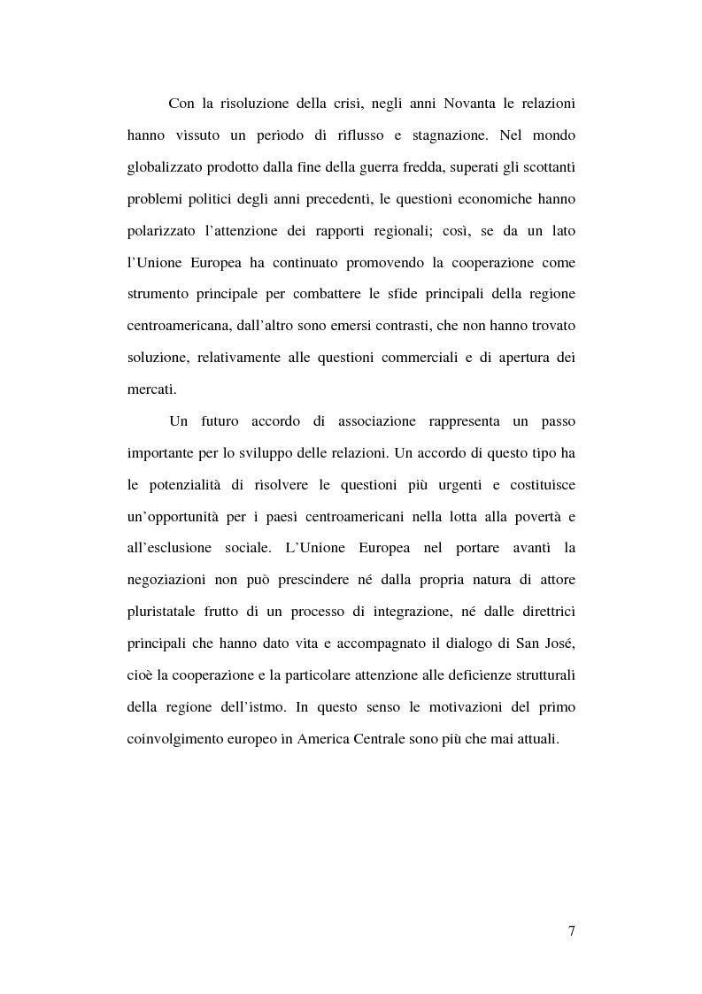 Anteprima della tesi: Unione Europea e America Centrale verso l'Accordo di Associazione: un possibile modello di interregionalismo, Pagina 2