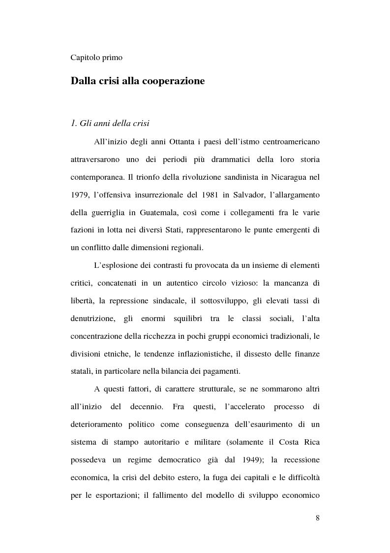 Anteprima della tesi: Unione Europea e America Centrale verso l'Accordo di Associazione: un possibile modello di interregionalismo, Pagina 3