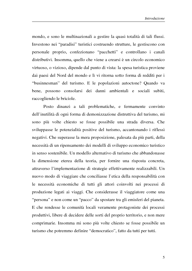 Anteprima della tesi: Le nuove frontiere del turismo responsabile. Dalle associazioni ai tour operator., Pagina 2