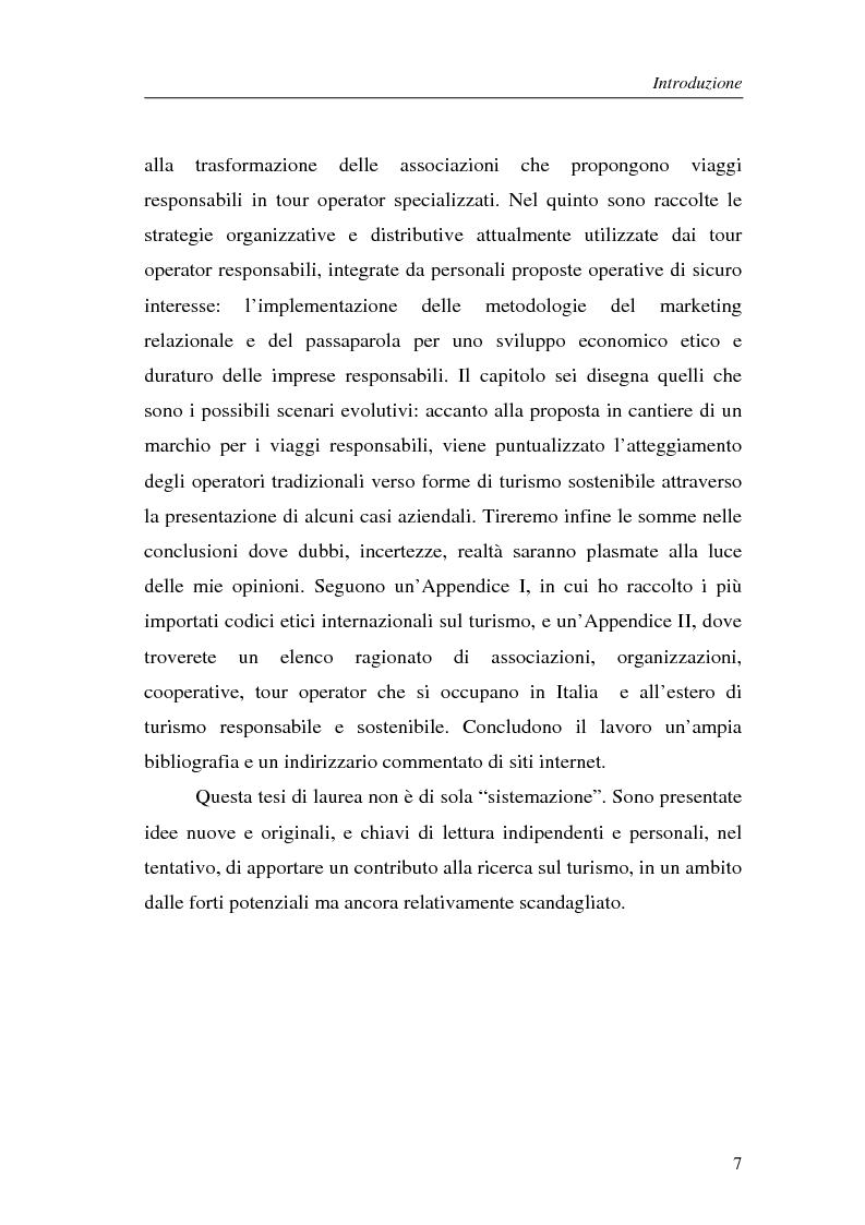 Anteprima della tesi: Le nuove frontiere del turismo responsabile. Dalle associazioni ai tour operator., Pagina 4