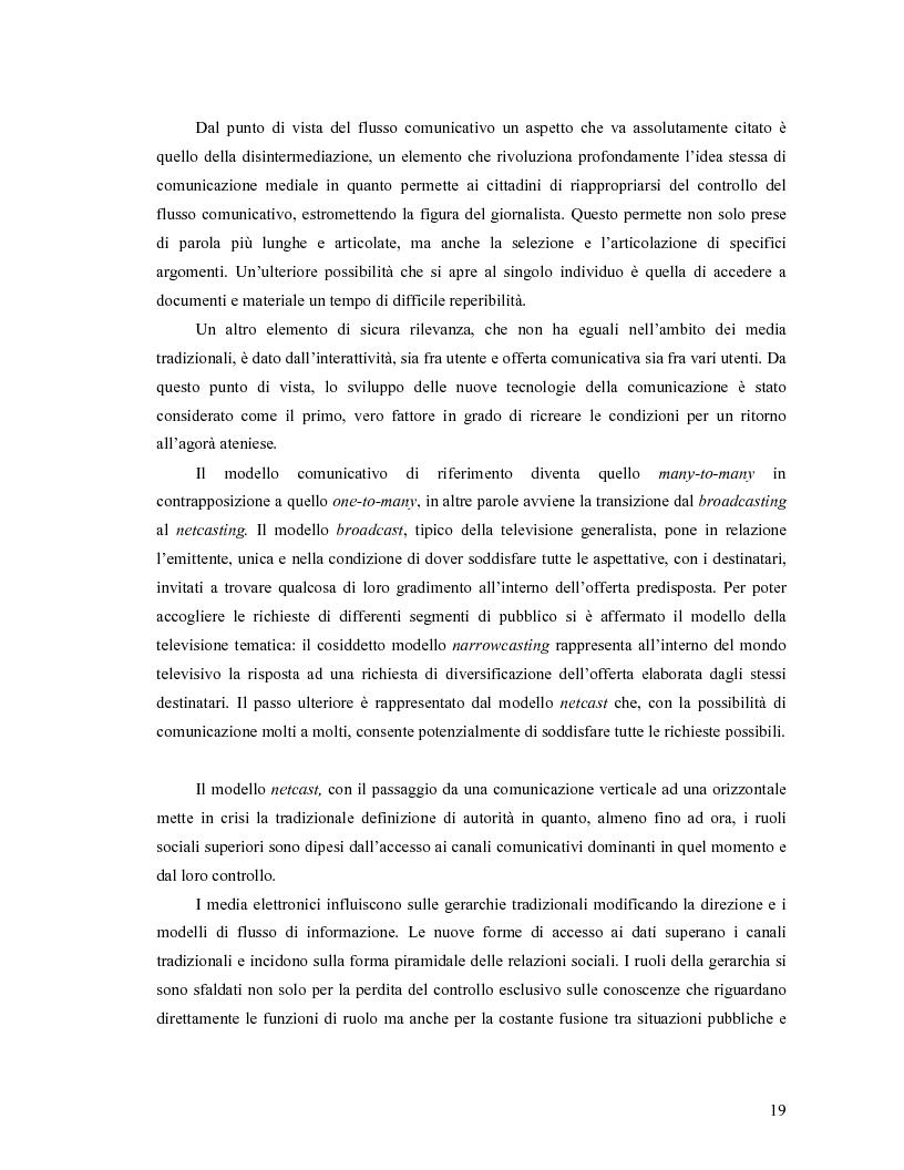 Anteprima della tesi: Da Bologna (io) a Bologna (noi). La democrazia e le nuove tecnologie della comunicazione, Pagina 10