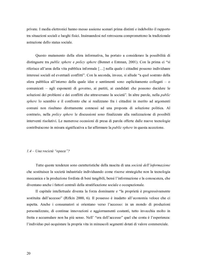 Anteprima della tesi: Da Bologna (io) a Bologna (noi). La democrazia e le nuove tecnologie della comunicazione, Pagina 11