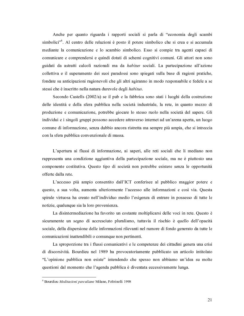 Anteprima della tesi: Da Bologna (io) a Bologna (noi). La democrazia e le nuove tecnologie della comunicazione, Pagina 12