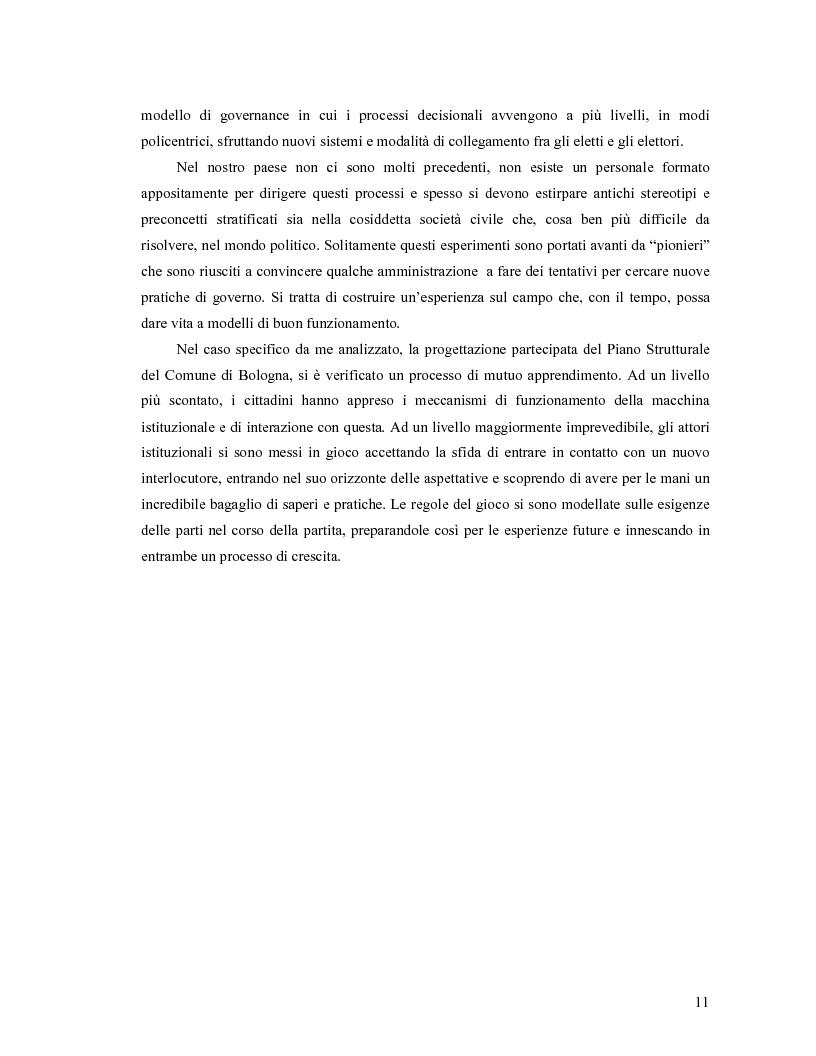 Anteprima della tesi: Da Bologna (io) a Bologna (noi). La democrazia e le nuove tecnologie della comunicazione, Pagina 3