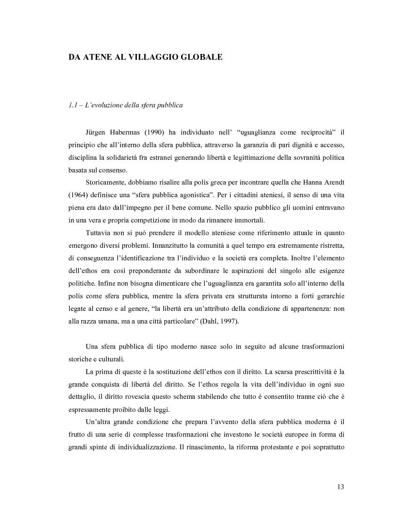 Anteprima della tesi: Da Bologna (io) a Bologna (noi). La democrazia e le nuove tecnologie della comunicazione, Pagina 4